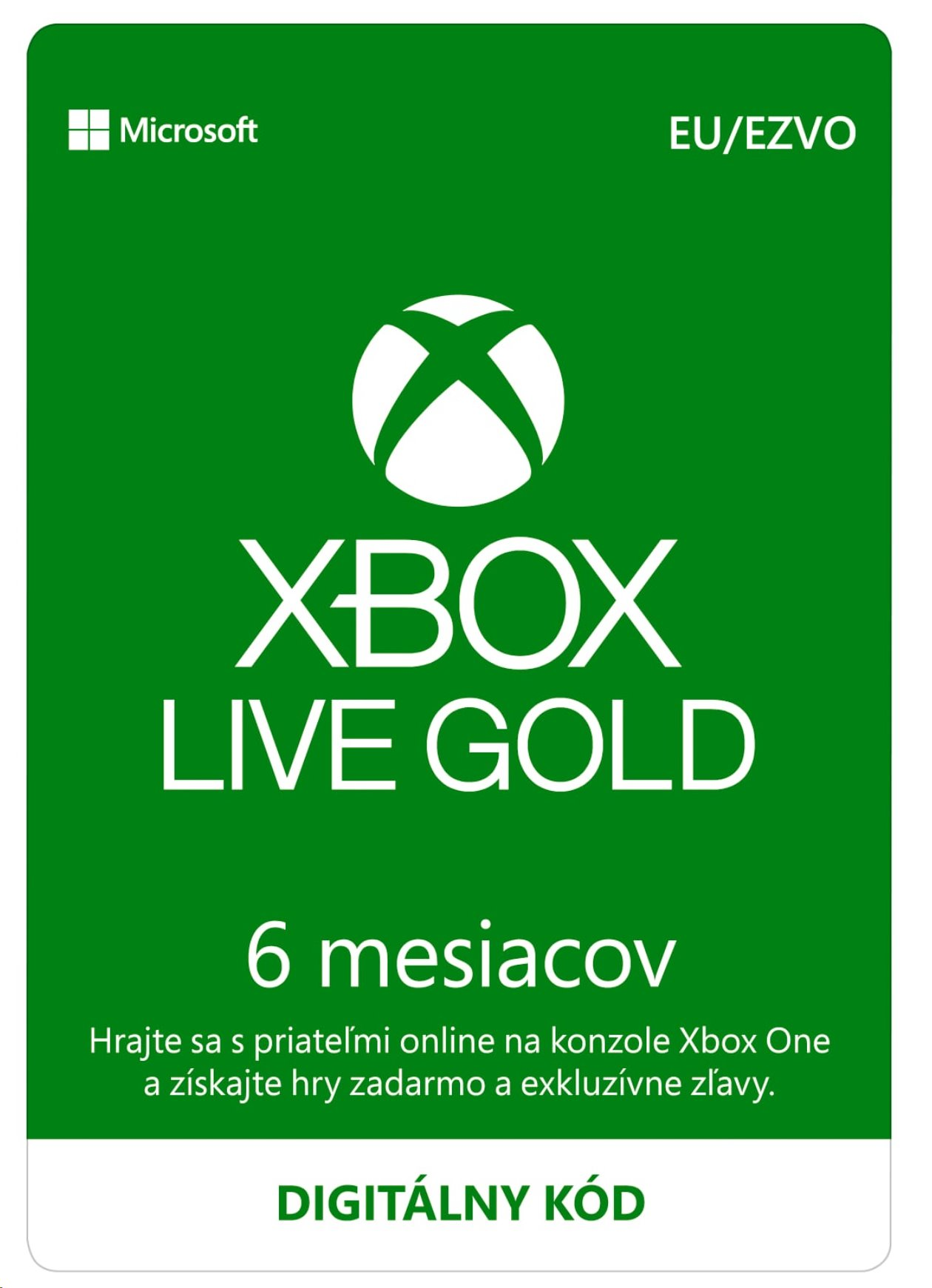 Xbox Live Gold 6 Month Membership ESD