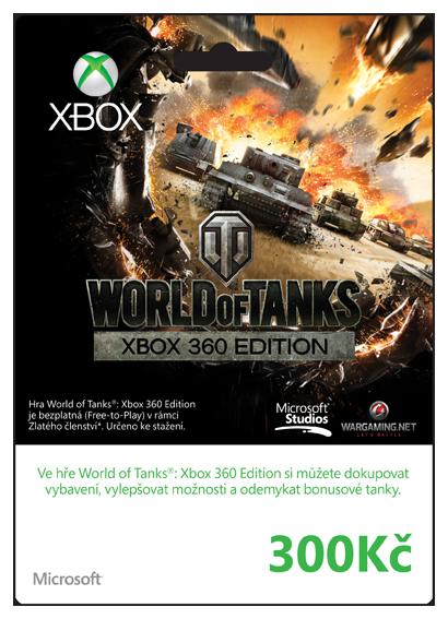 Xbox Live Predplacena Karta Live 300 Kc W O T K4w 01236