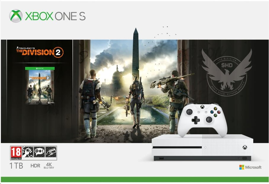 XBOX ONE S 1 TB + Tom Clancy's The Division 2