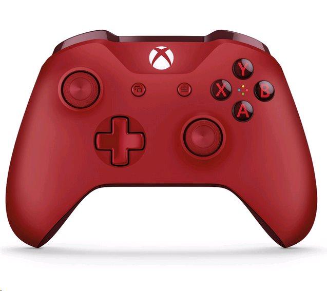 XBOX ONE S bezdrôtový gamepad, červený