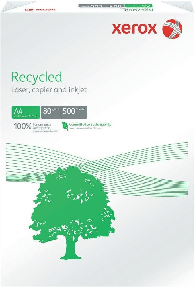 Xerox kancelársky papier, A4, recyklovaný sivý, 1 bal