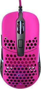 XTRFY M42 RGB, herná myš, ružová