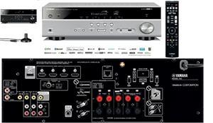 YAMAHA RX-V483 TITAN, AV receiver, strieborný