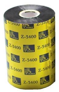 Zebra páska 3400 wax/resin. šířka 110mm. délka 450, cena za 1 kus (12ks v balení)